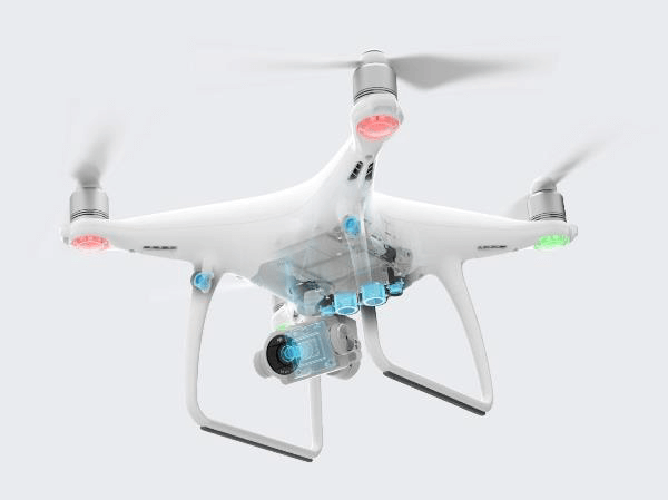 DJI Phantom 4 Advanced sensori visivi